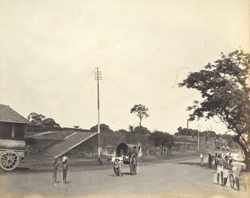 Large bastion west of wall, Madras